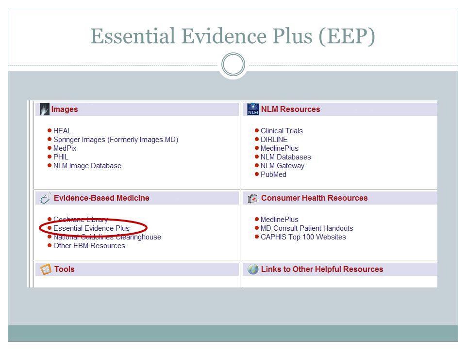 Essential Evidence Plus (EEP)