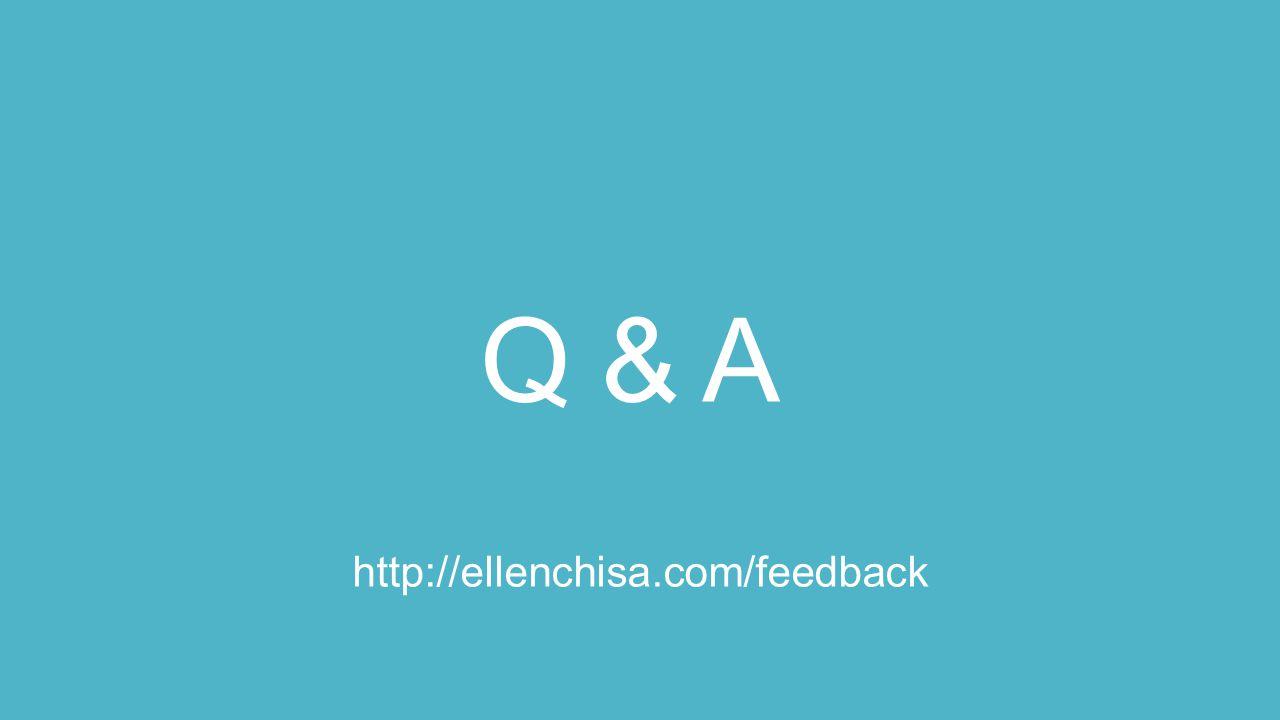 Q & A http://ellenchisa.com/feedback