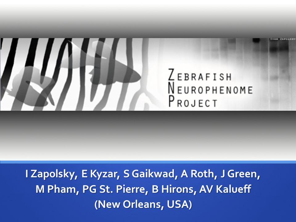 I Zapolsky, E Kyzar, S Gaikwad, A Roth, J Green, M Pham, PG St. Pierre, B Hirons, AV Kalueff (New Orleans, USA)