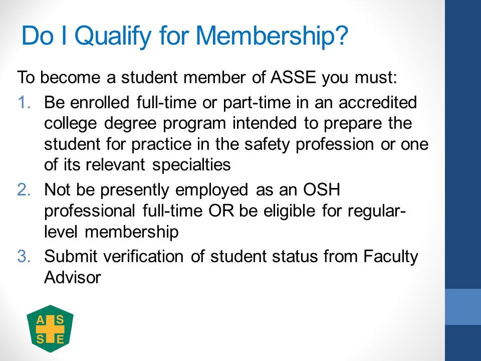 Do I Qualify for Membership.