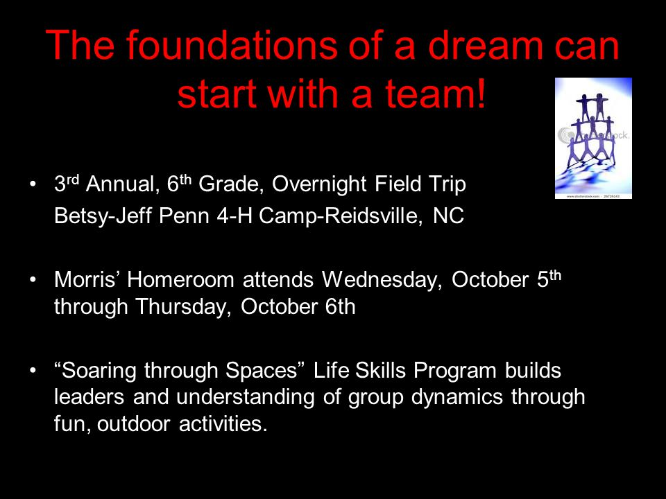 The foundations of a dream can start with a team.