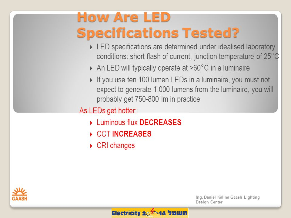 How Are LED Specifications Tested.