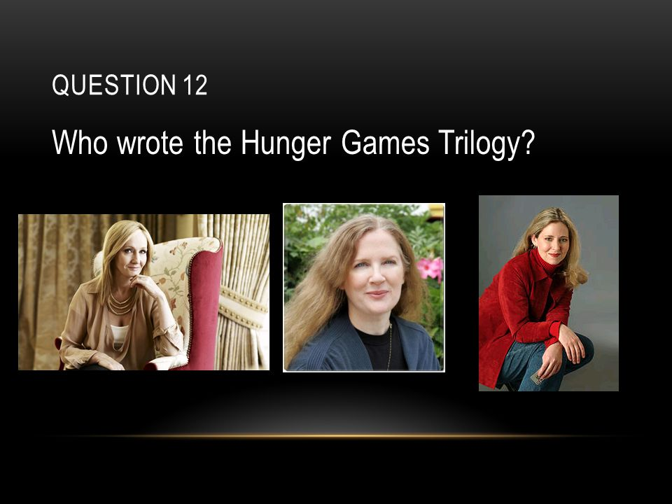 QUESTION 12 Who wrote the Hunger Games Trilogy