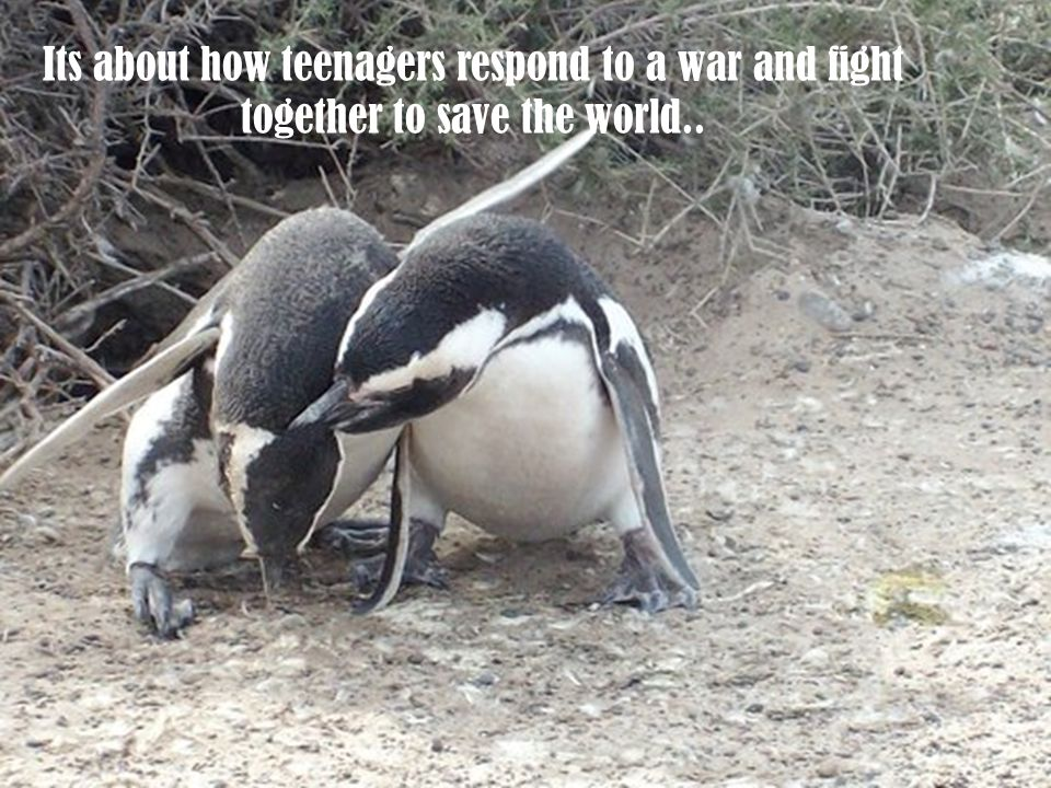 Its about how teenagers respond to a war and fight together to save the world..