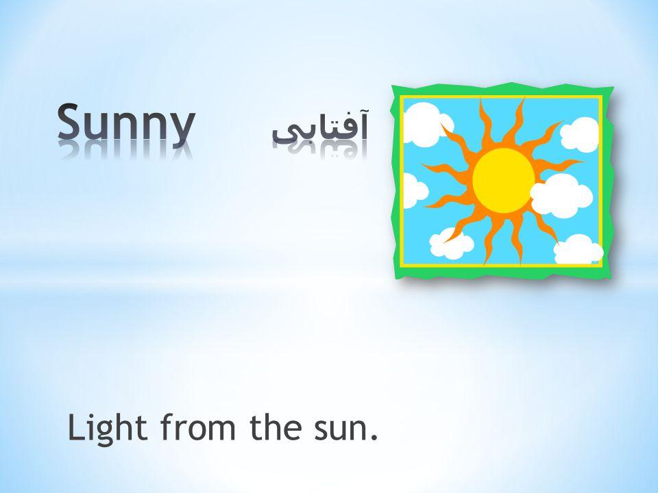 Light from the sun.