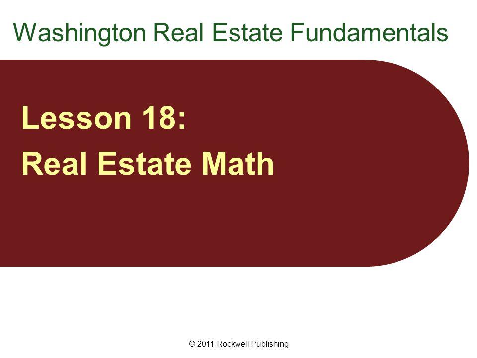 Percentage Problems Formula: P = W × % Basic formula for solving percentage problems: Part = Whole × Percentage P = W × % © 2011 Rockwell Publishing