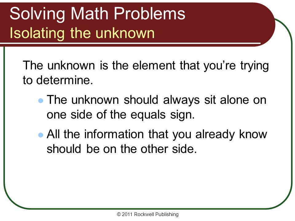 Percentage Problems Multiply or divide.