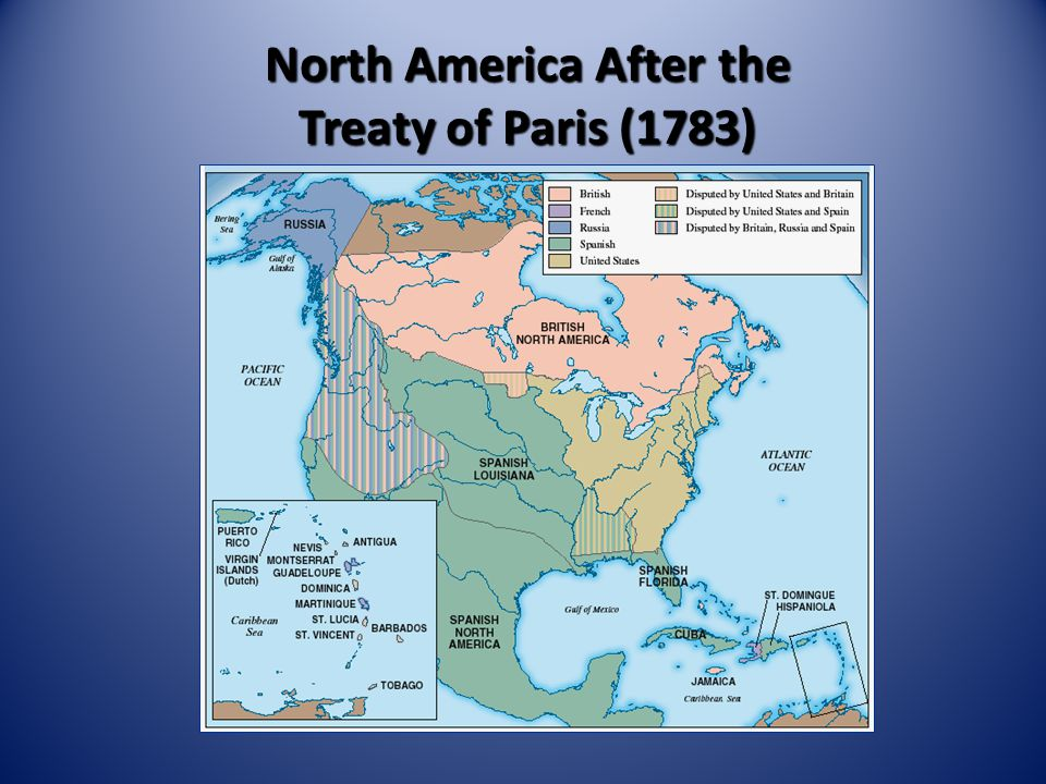 North America After the Treaty of Paris (1783)