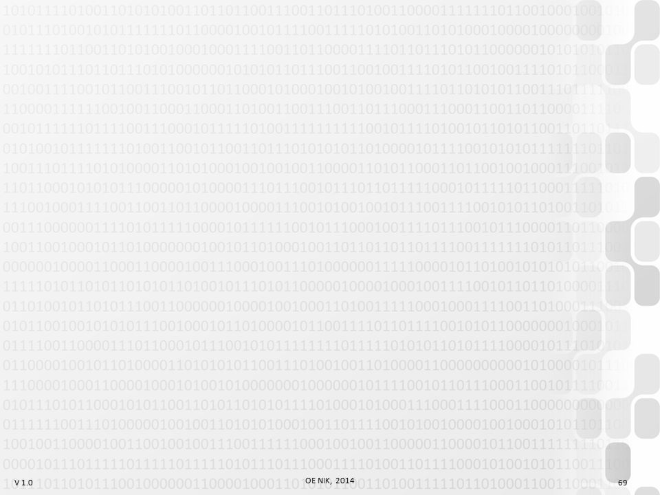 V 1.0 OE NIK, 2014 69