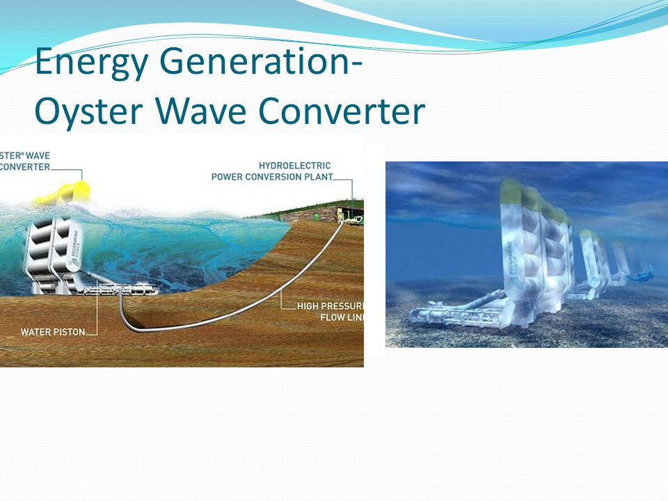 Energy Generation- Oyster Wave Converter