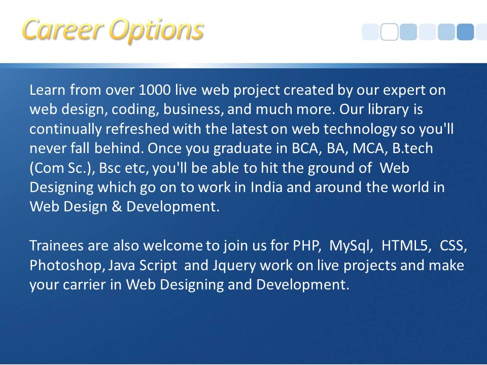 Learn from over 1000 live web project created by our expert on web design, coding, business, and much more.