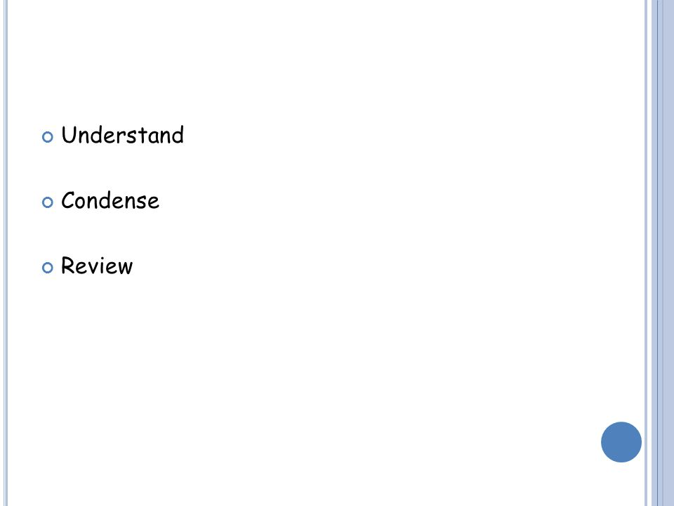 Understand Condense Review