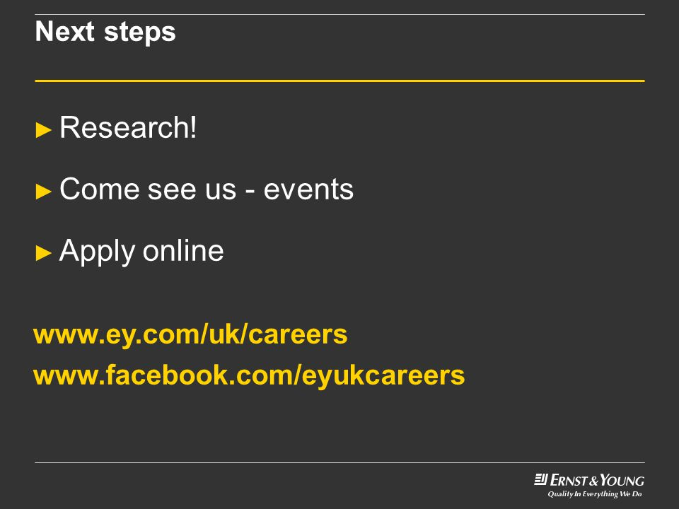 Next steps ► Research.