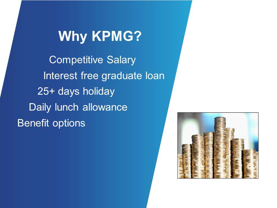 Why KPMG.