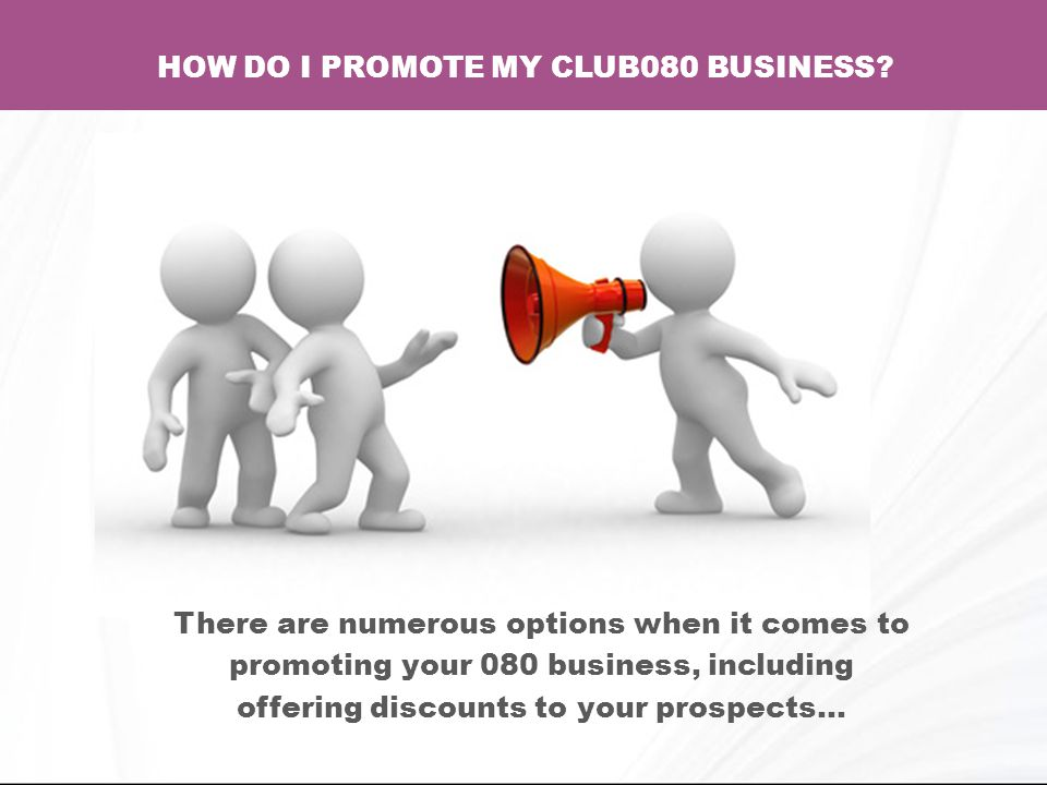 HOW DO I PROMOTE MY CLUB080 BUSINESS.