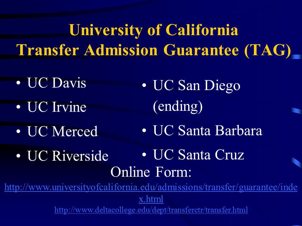 UC Online TAG Form Submit Sept.