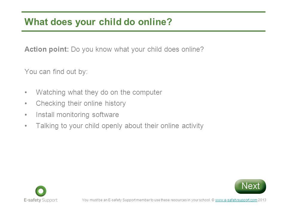 You must be an E-safety Support member to use these resources in your school.