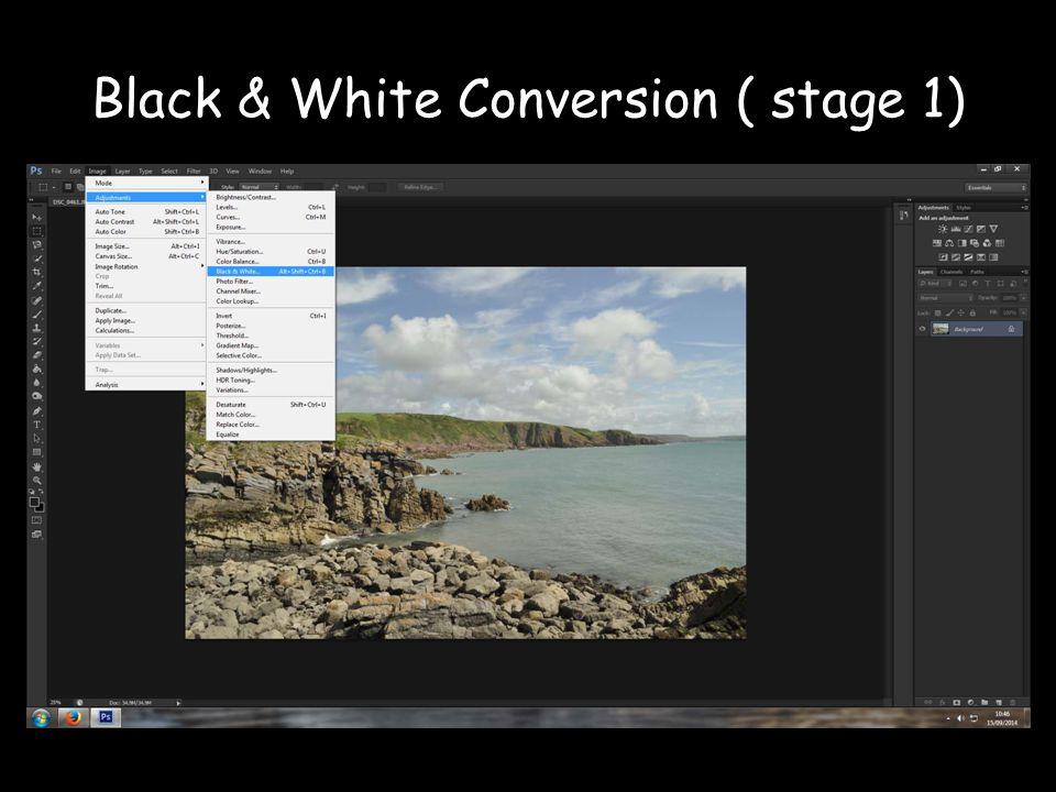 Black & White Conversion ( stage 1)