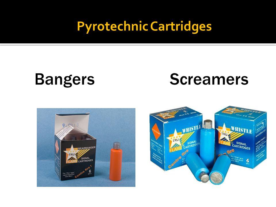 Pyrotechnic Cartridges Bangers Screamers
