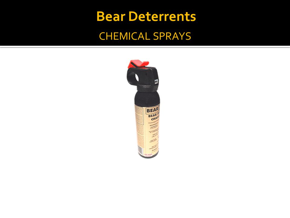 CHEMICAL SPRAYS Bear Deterrents