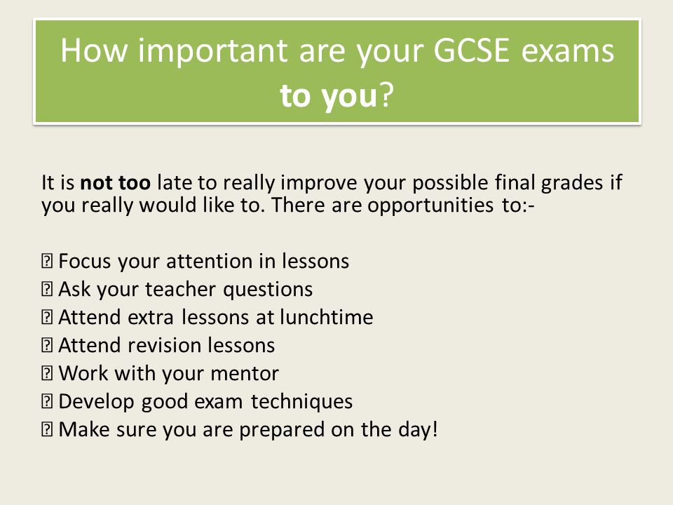 How important are your GCSE exams to you.