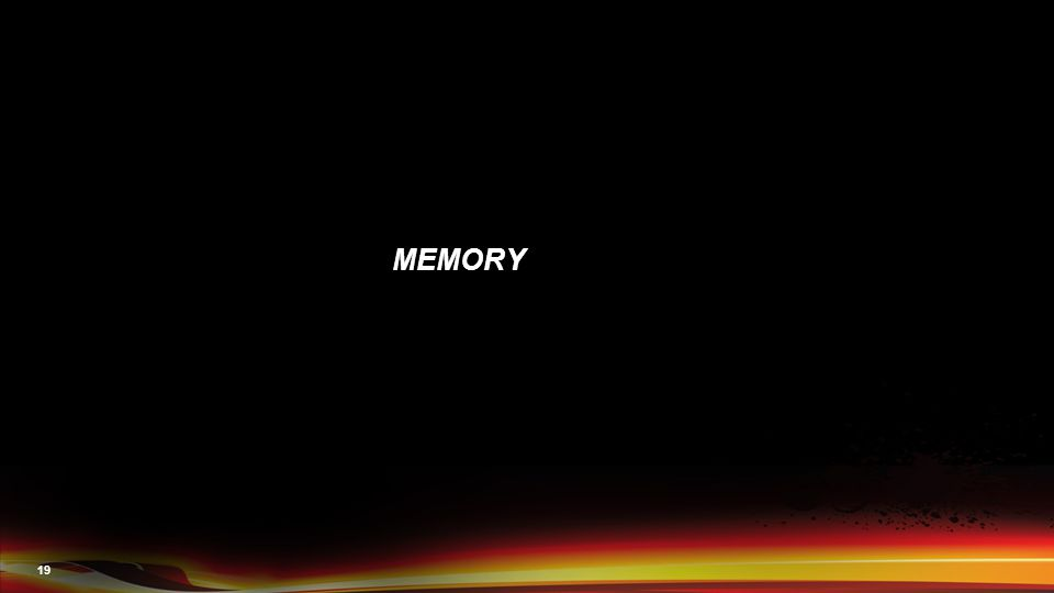 19 MEMORY