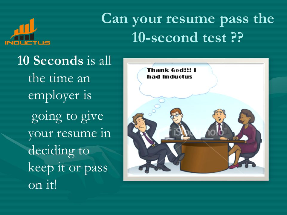 Can your resume pass the 10-second test .