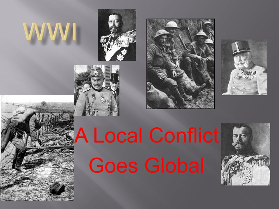 A Local Conflict Goes Global