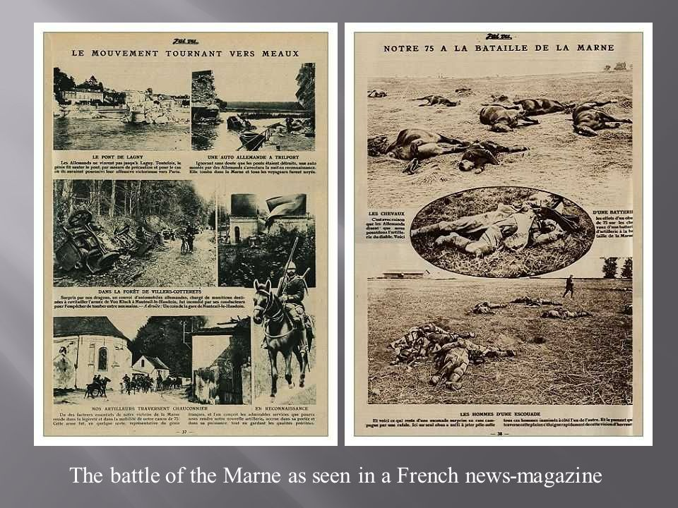 The battle of the Marne as seen in a French news-magazine