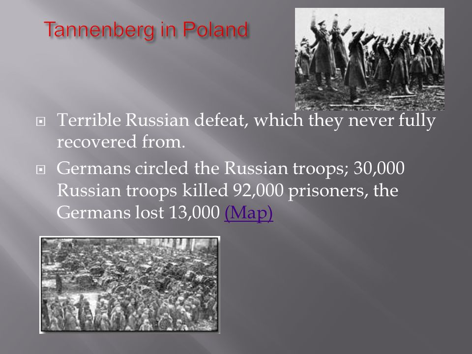  Terrible Russian defeat, which they never fully recovered from.