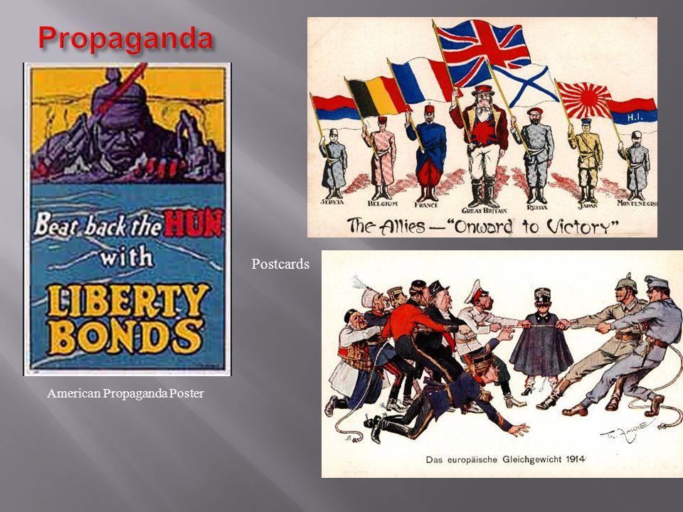 American Propaganda Poster Postcards