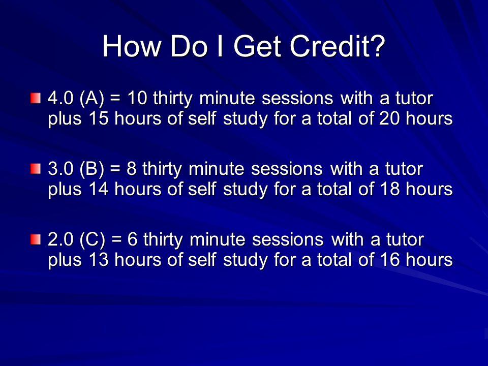How Do I Get Credit.
