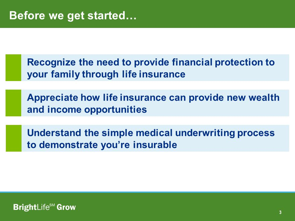 3 68% 32% Recognize the need to provide financial protection to your family through life insurance Appreciate how life insurance can provide new wealt
