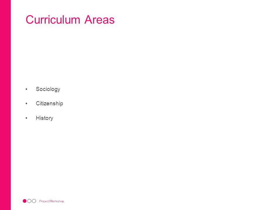 Curriculum Areas Sociology Citizenship History