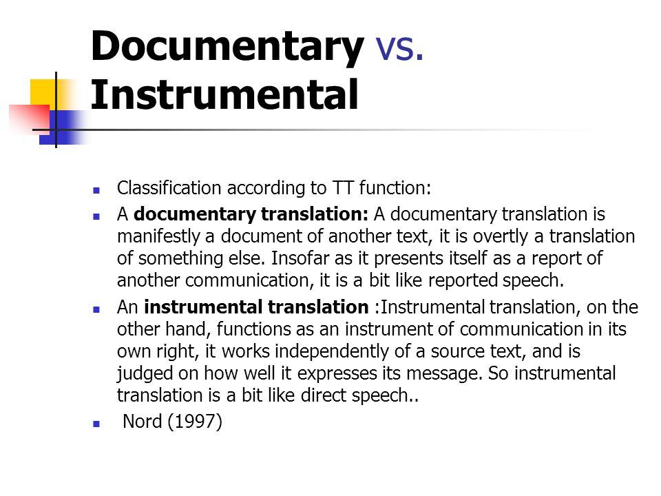 Documentary vs.