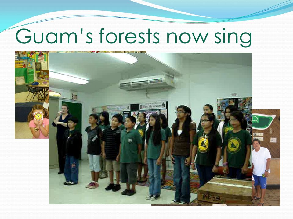 Guam's forests now sing