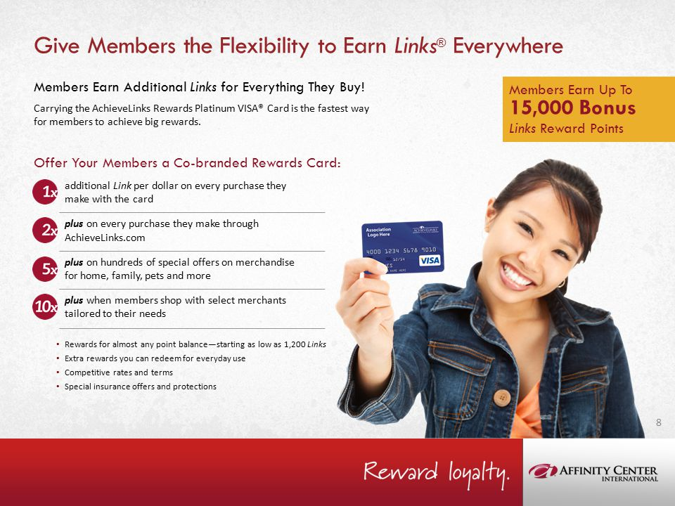 Give Members the Flexibility to Earn Links ® Everywhere Members Earn Additional Links for Everything They Buy.