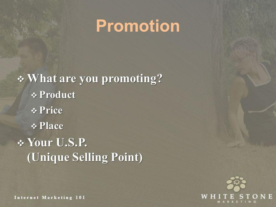 Internet Marketing 101 Promotion