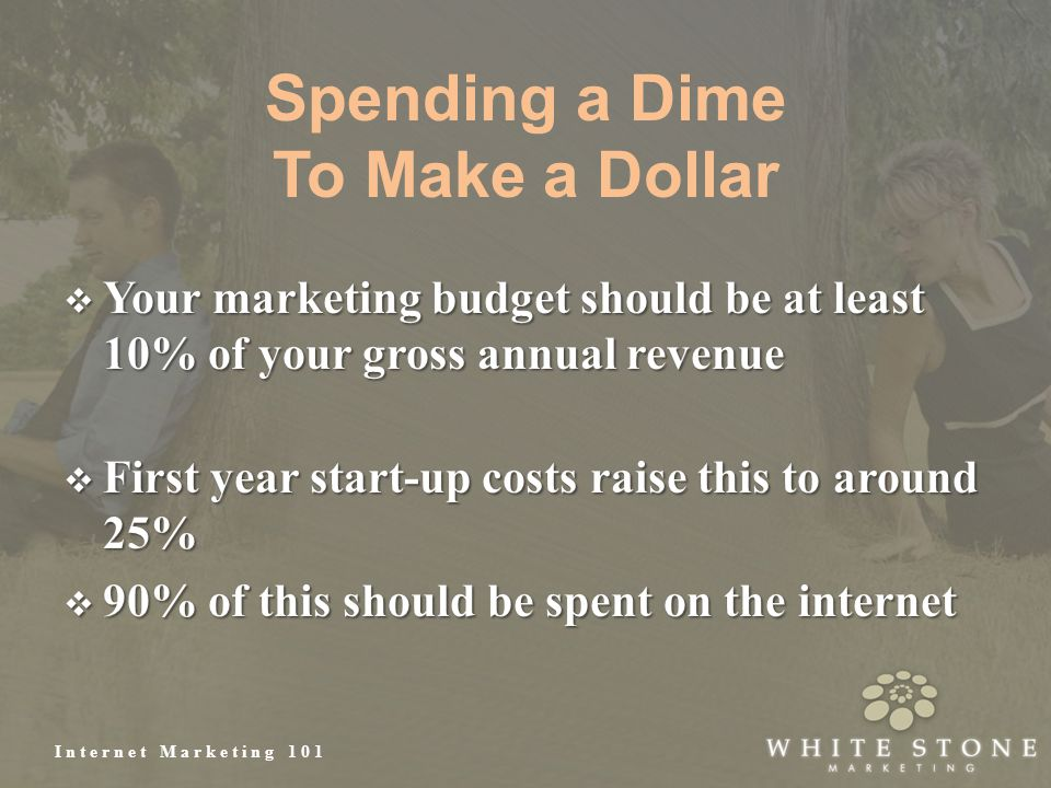 Internet Marketing 101 Spending a Dime To Make a Dollar