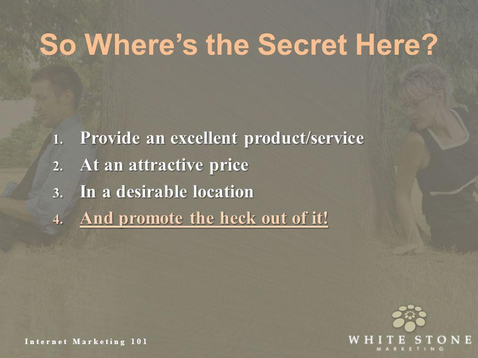 Internet Marketing 101 So Where's the Secret Here