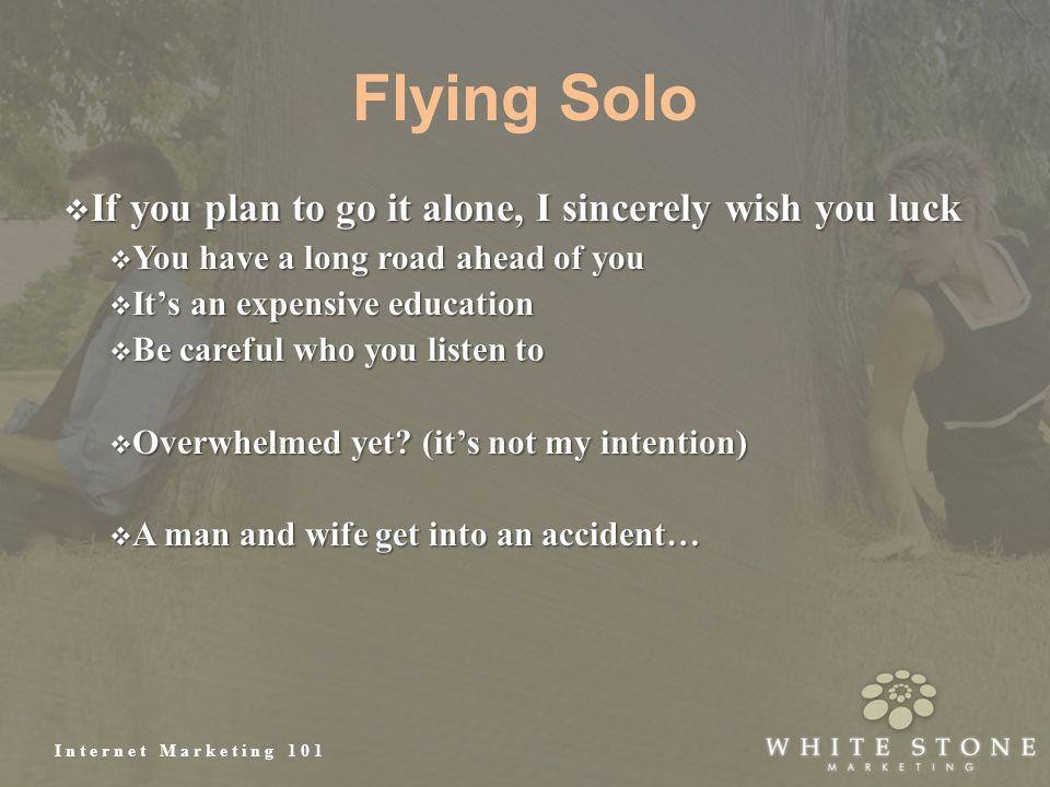 Internet Marketing 101 Flying Solo