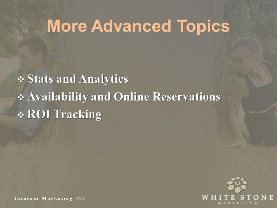 Internet Marketing 101 More Advanced Topics