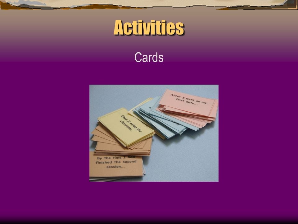 ActivitiesActivities Cards