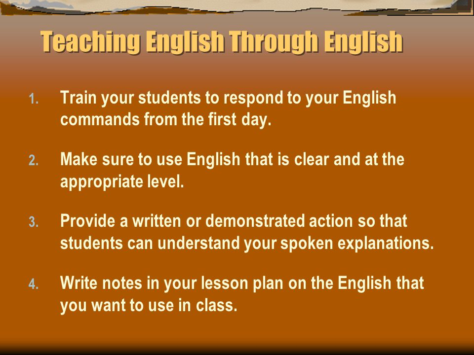 Teaching English Through English 1.