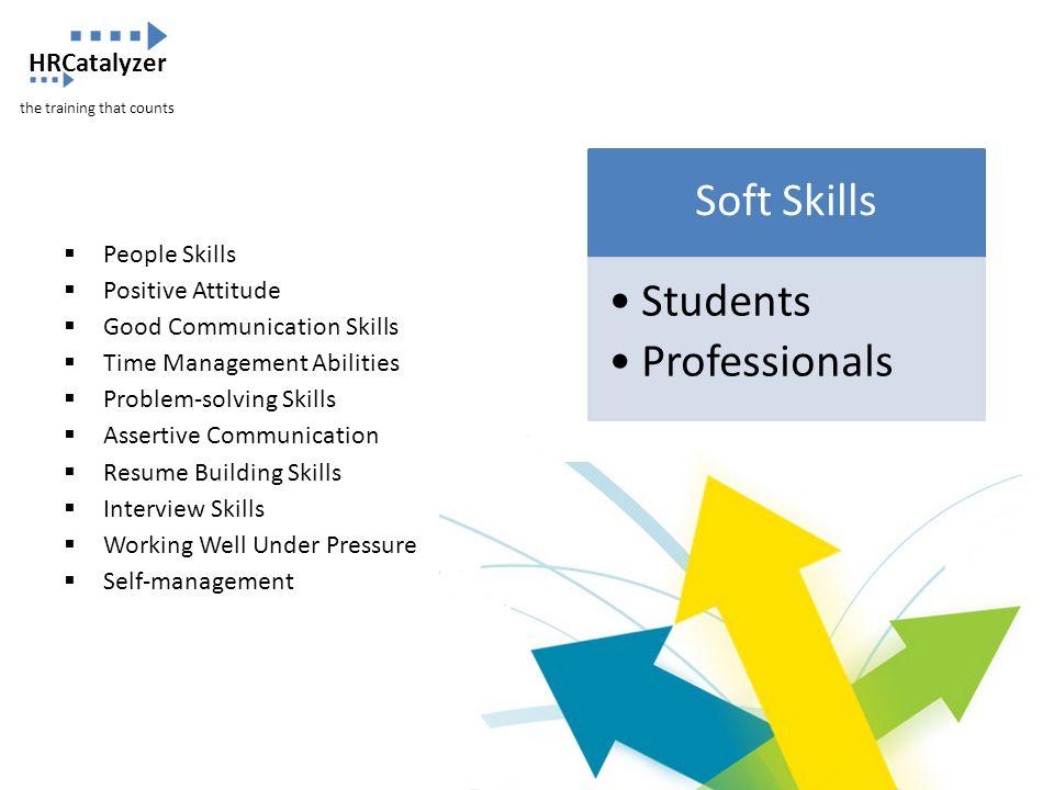 Soft Skills Students Professionals  People Skills  Positive Attitude  Good Communication Skills  Time Management Abilities  Problem-solving Skill