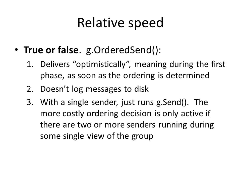 Relative speed True or false.