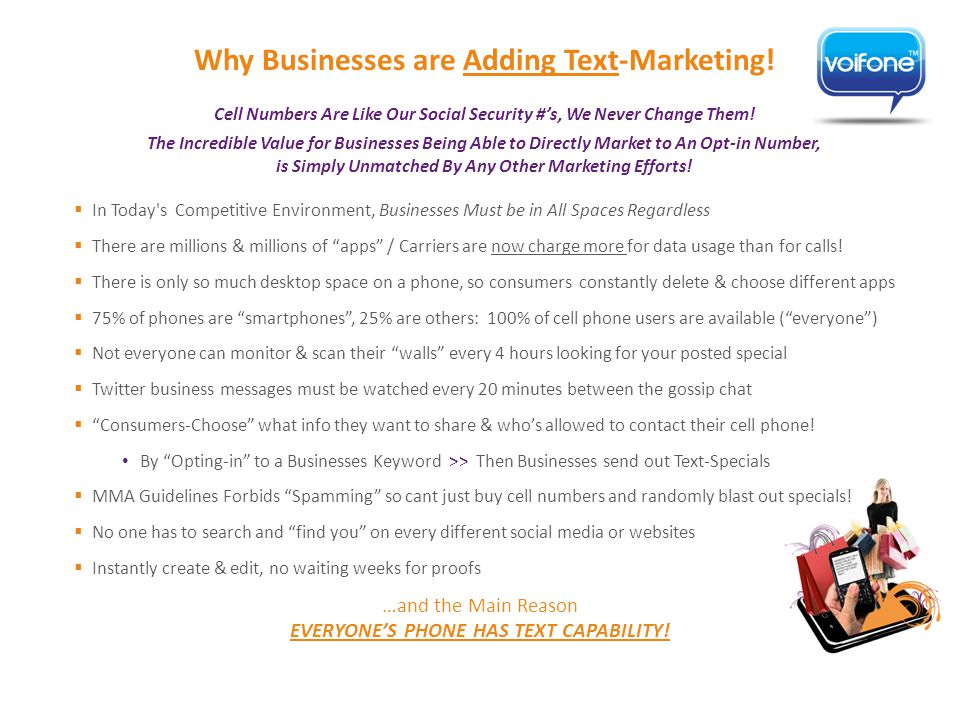 Why Businesses are Adding Text-Marketing.