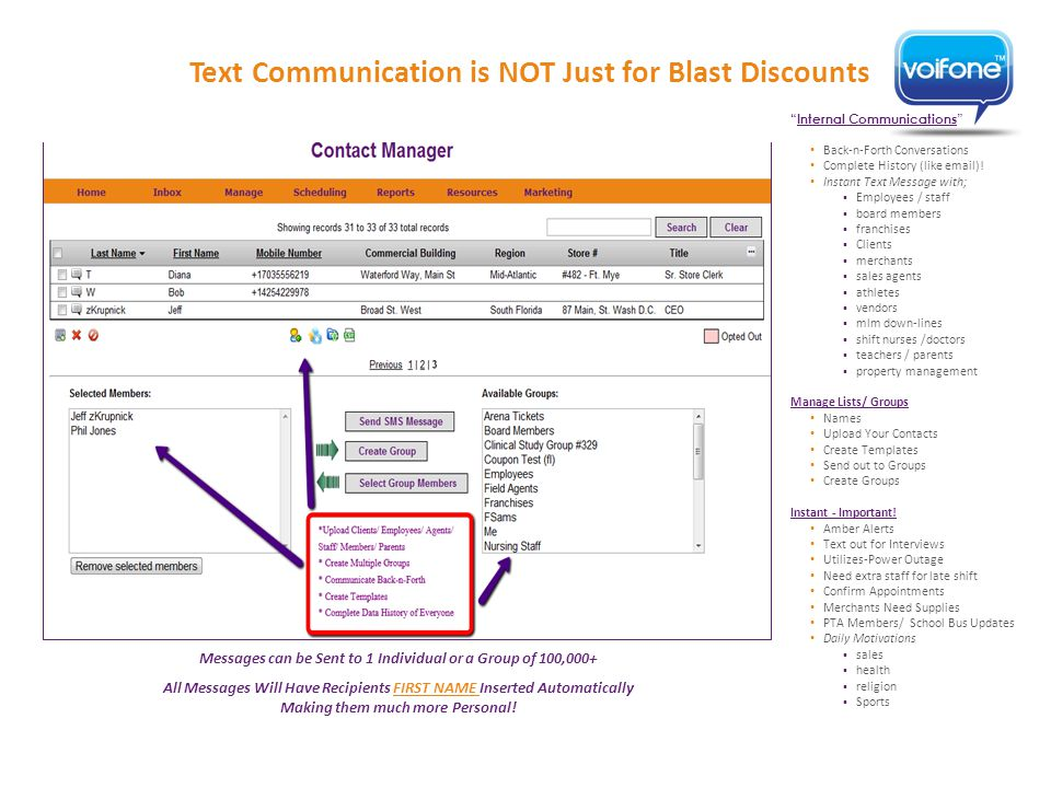 Internal Communications Back-n-Forth Conversations Complete History (like email).