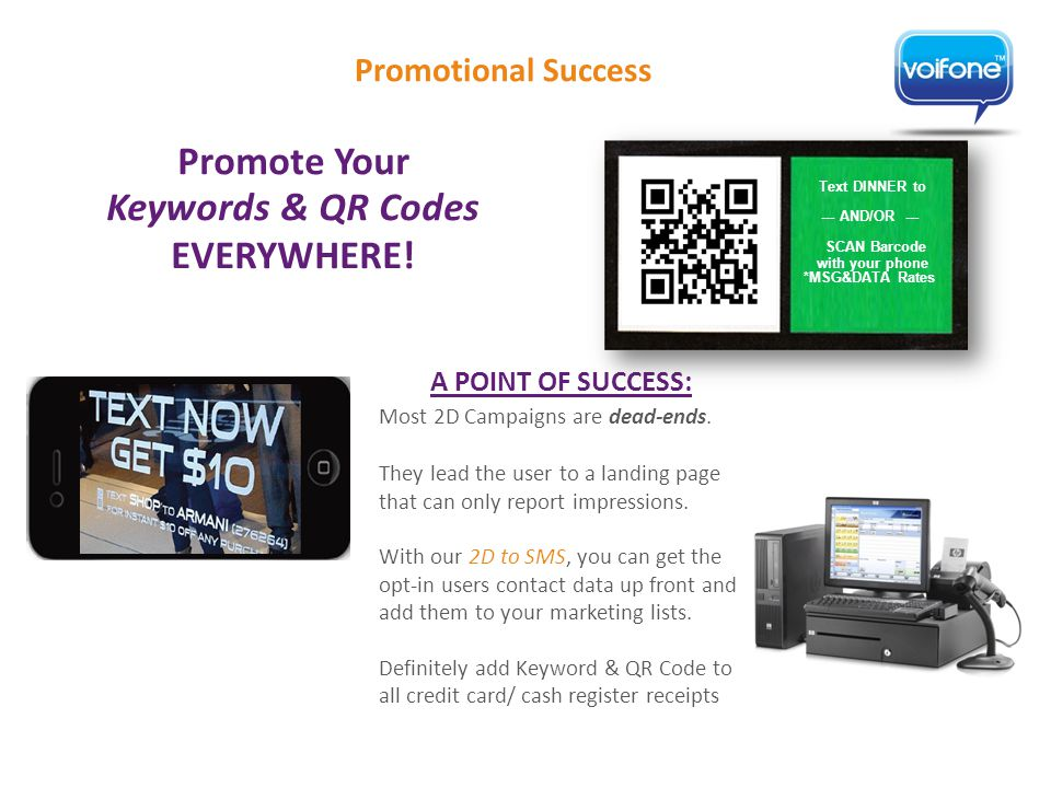 Promotional Success Promote Your Keywords & QR Codes EVERYWHERE.