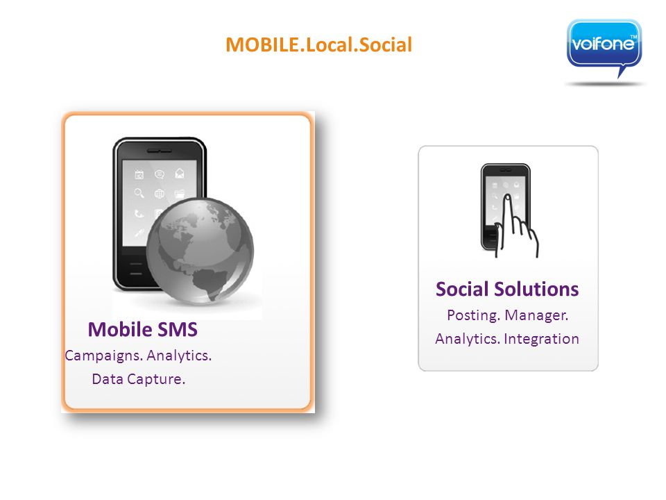 Social Solutions Posting. Manager. Analytics. Integration Mobile SMS Campaigns.